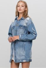 Insane Gene Oversized Distressed Denim Jacket