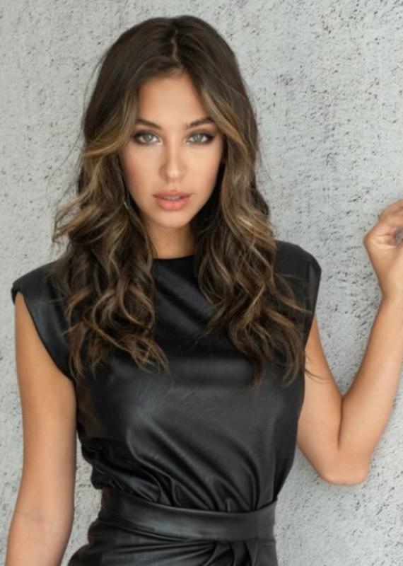 Venti 6 Leather blouse