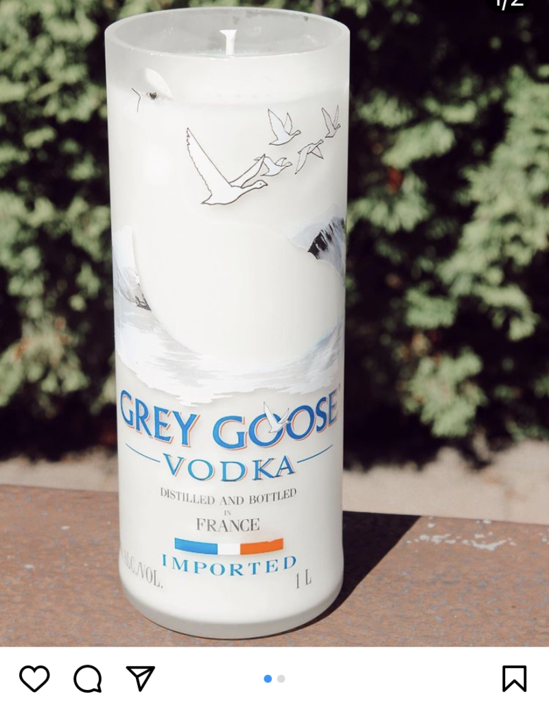 Repurposed Candle Company Grey Goose Candle