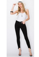 Special A p2677 MID RISE WITH ZIPPER FLY - ANKLE LENGTH WITH FRAY HEM