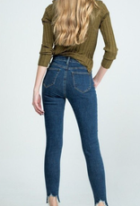 Special A P7676D  HIGH RISE WITH ZIPPER FLY - FULL LENGTH WITH HEAVY DISTRESSED HEM, WITH STRECH