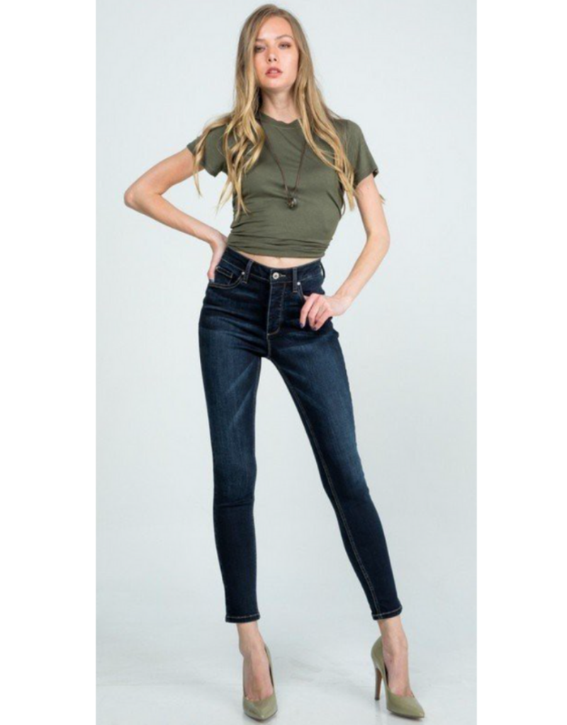 P7735D HIGH RISE WITH INNER BUTTON FLY - FULL LENGTH WITH CLEAN HEM