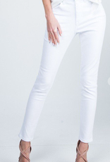 Special A P7022WT-SA WHITE HIGH RISE STRETCH BASIC SKINNY FRONT RISE: 10 1/2