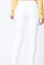 Kancan KC8395WT  fray hem white jean