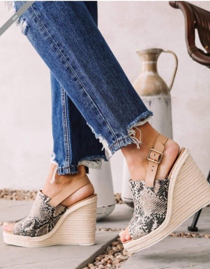 Shoe Maiden cascade bge/brn snakewedge