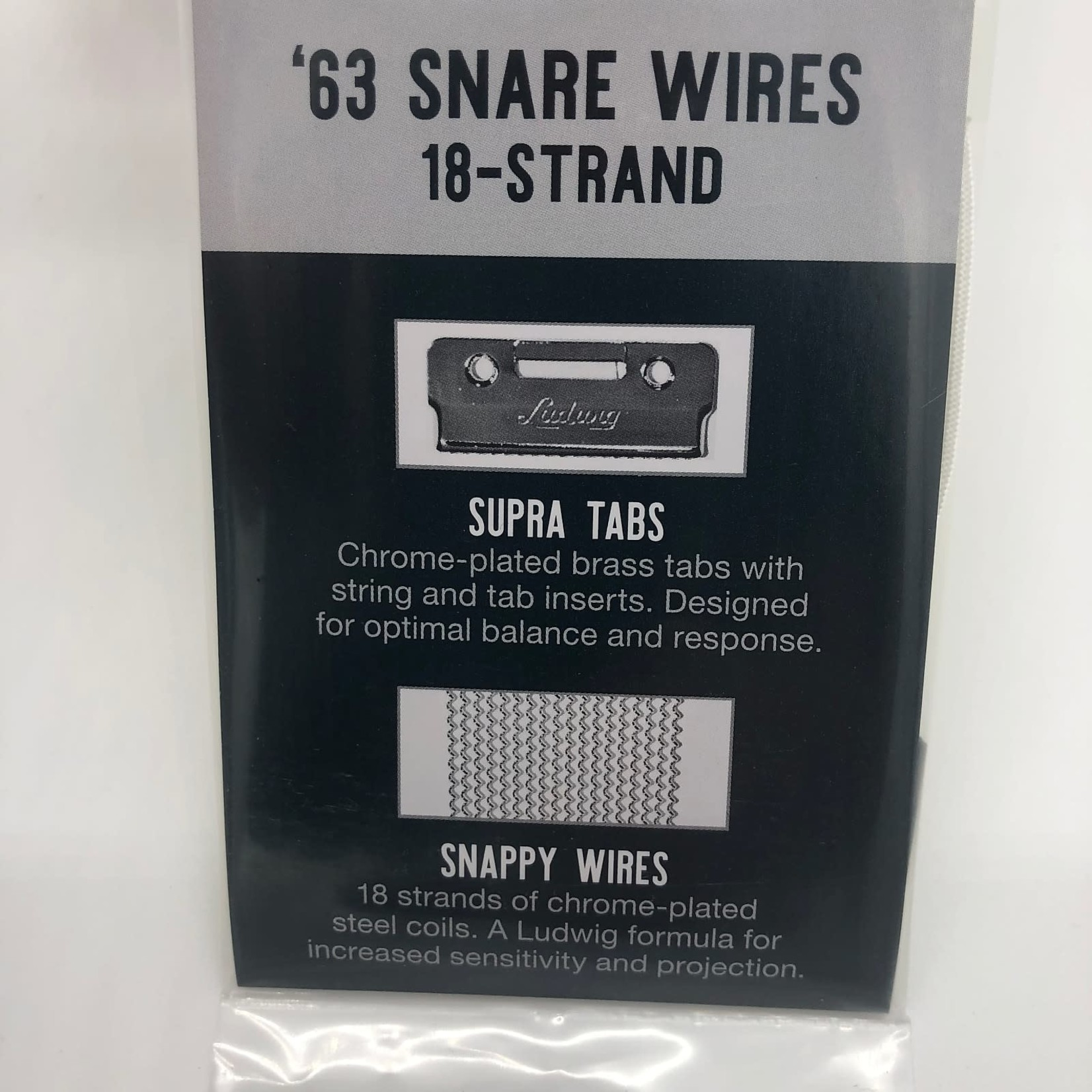 """Ludwig LUDWIG '63 14"""" 18 STRAND SNARE WIRES L1963"""