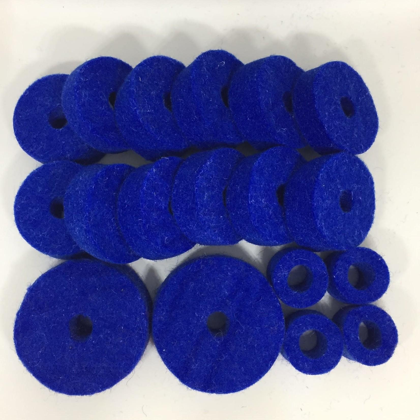 18-PC BLUE CYMBAL FELTS PACK