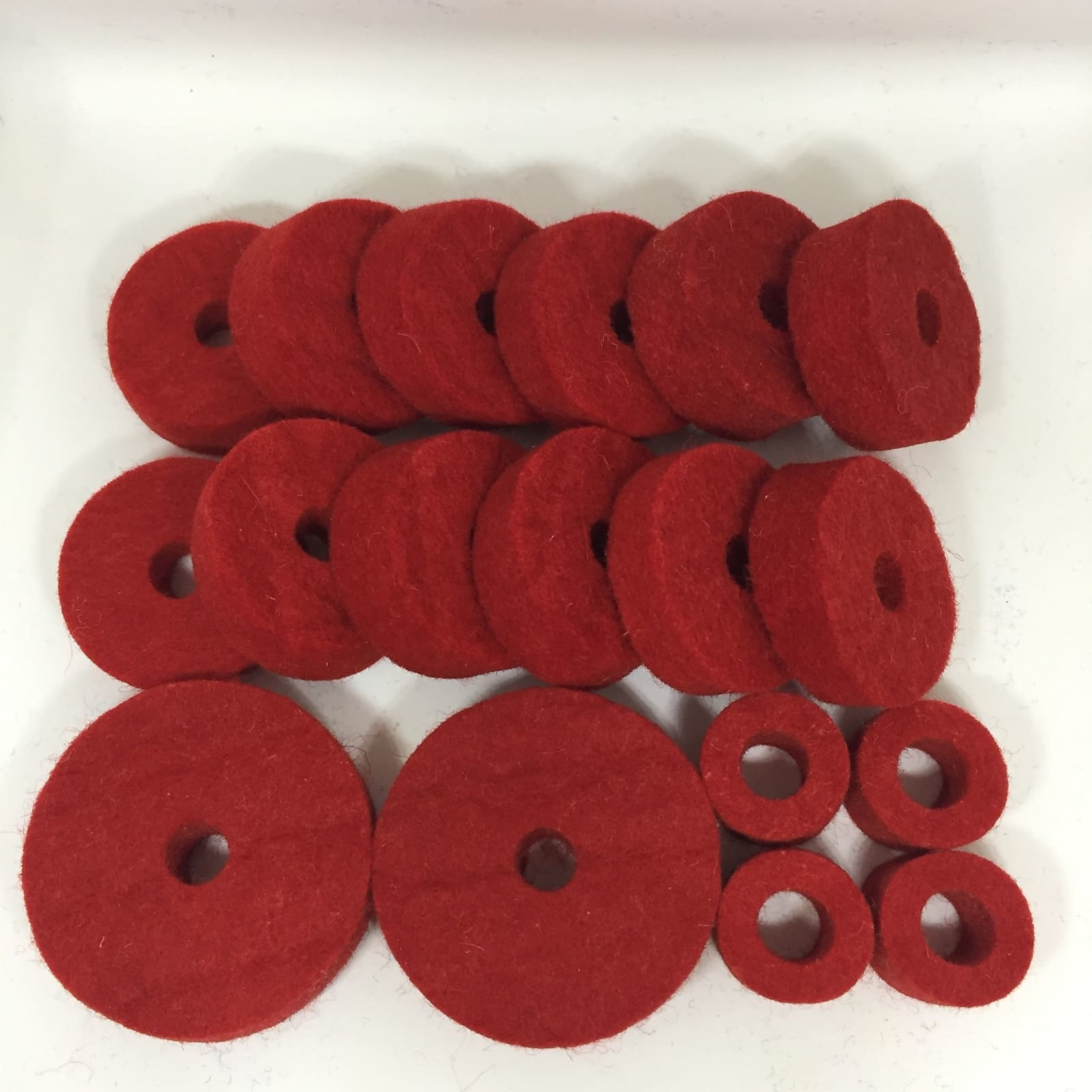 2112 18-PC RED CYMBAL FELTS PACK