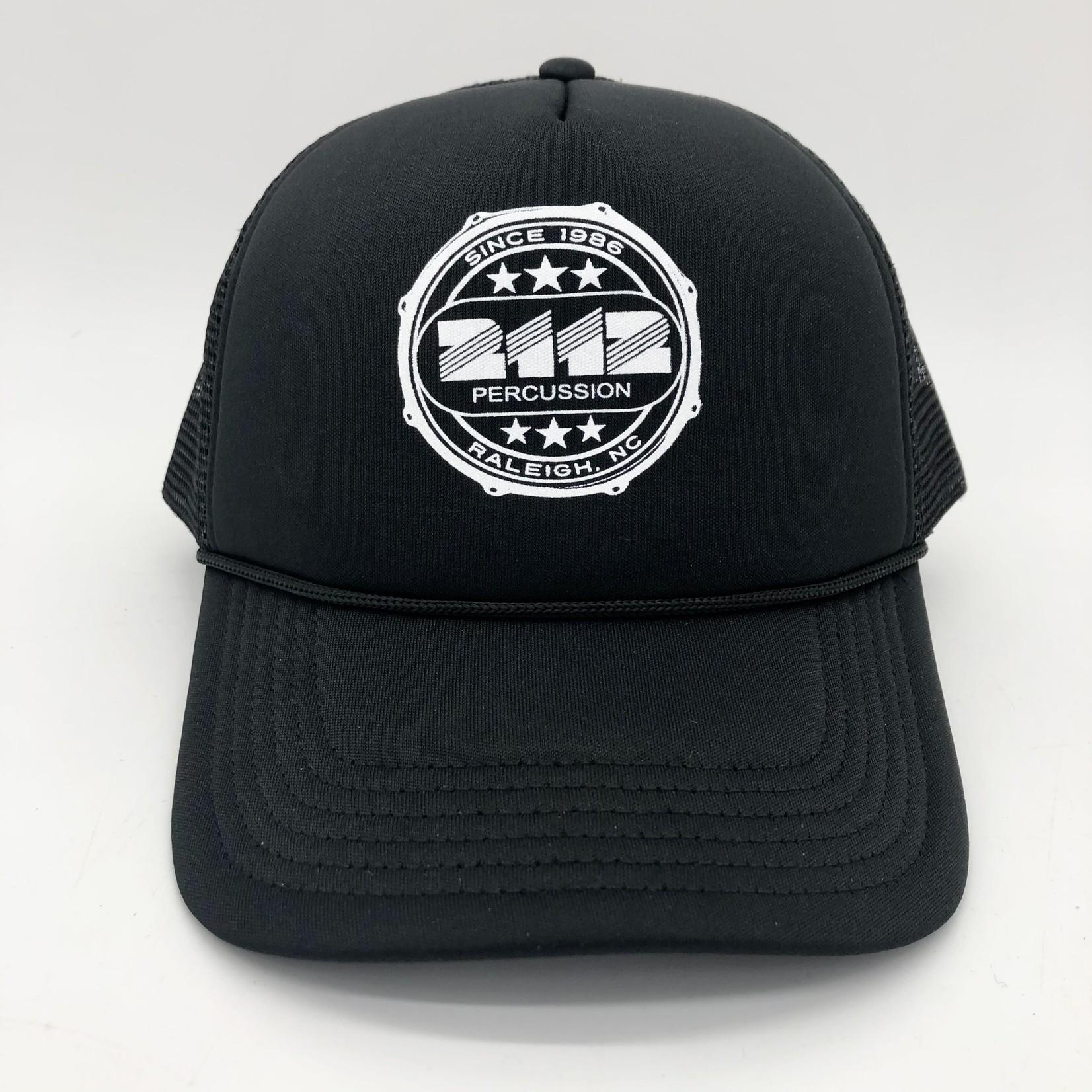 2112 2112 BLACK TRUCKER HAT W/ HOOP LOGO