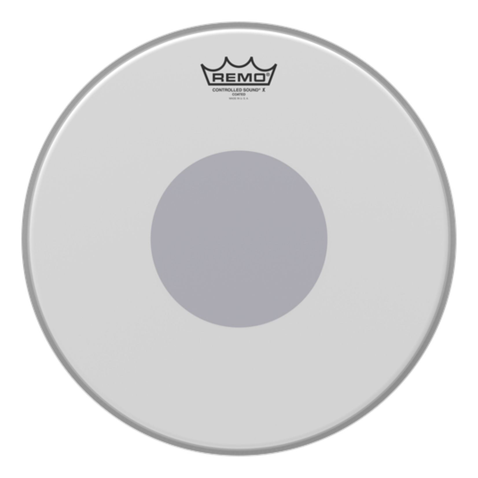 Remo REMO CONTROLLED SOUND X COATED W/ BOTTOM BLACK DOT