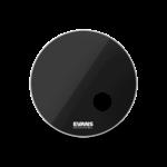 Evans EVANS EQ3 BLACK RESONANT BASS DRUMHEAD W/ PORT