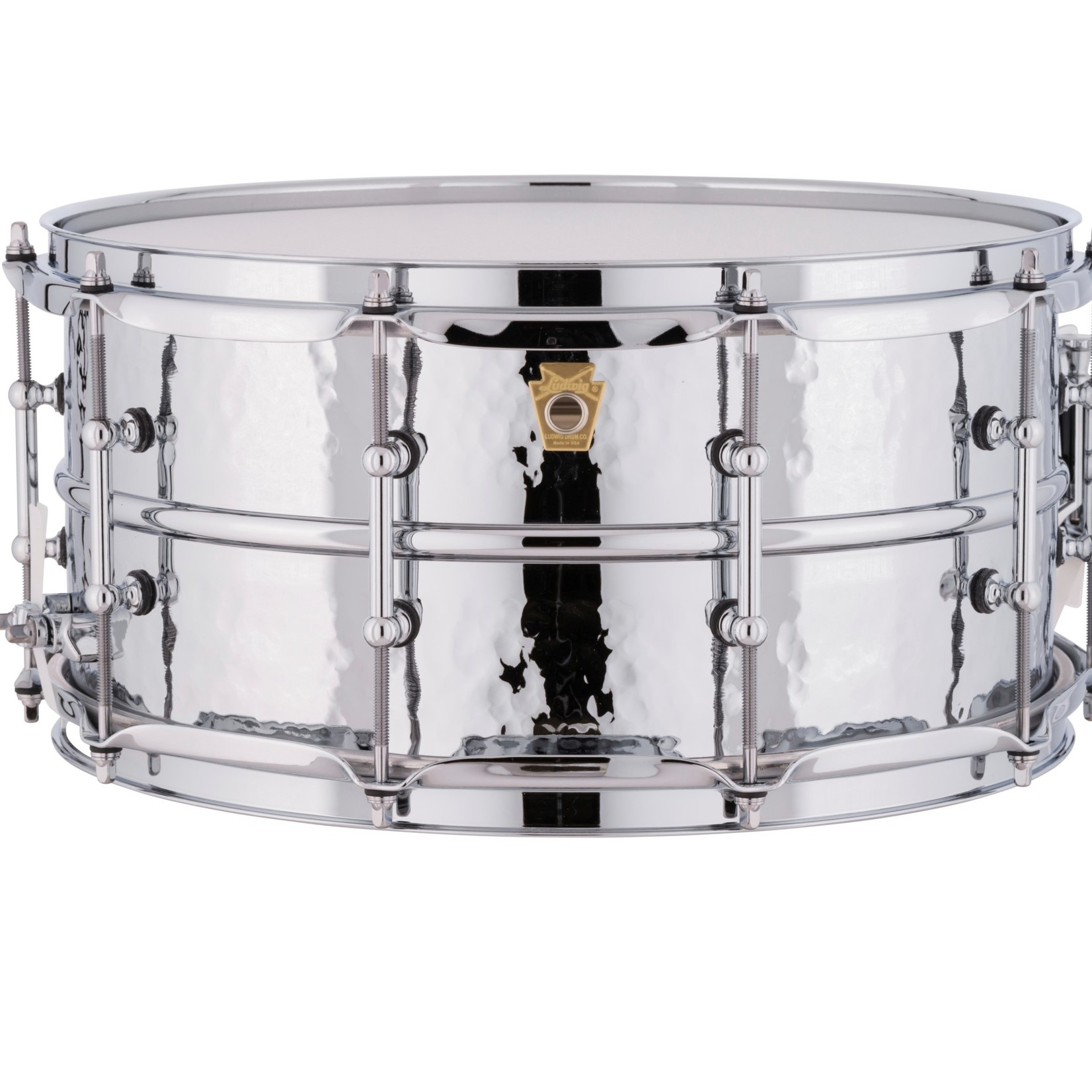 """Ludwig LUDWIG 6.5X14"""" HAMMERED SUPRAPHONIC SNARE DRUM W/ TUBE LUGS LM402KT"""