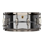 """Ludwig LUDWIG 6.5X14"""" SUPER LUDWIG CHROME OVER BRASS SNARE DRUM LB402BN"""
