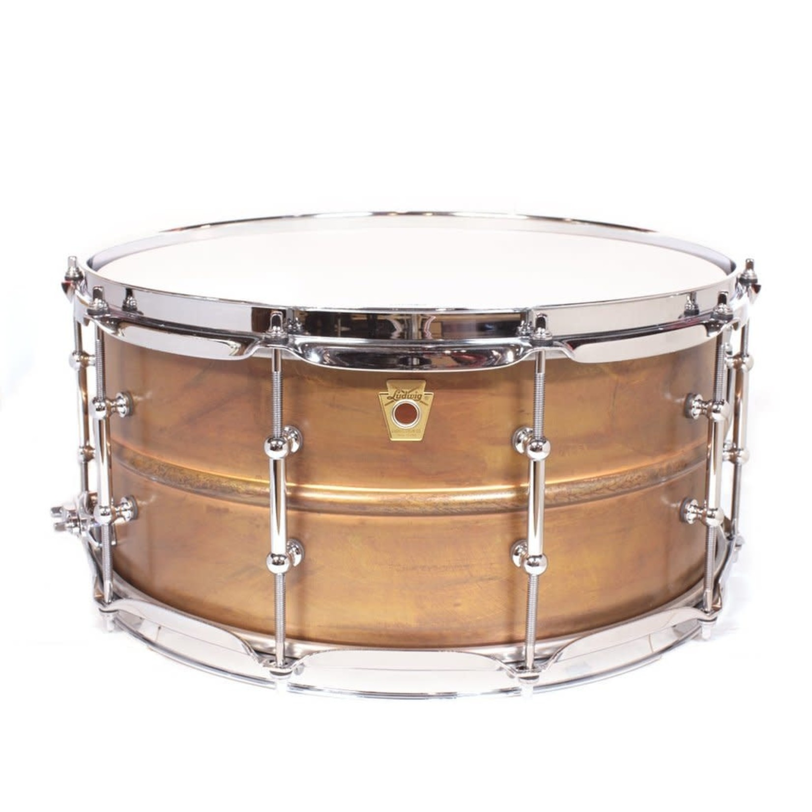 """Ludwig LUDWIG 6.5X14"""" COPPERPHONIC SNARE DRUM WITH TUBE LUGS LC663T"""