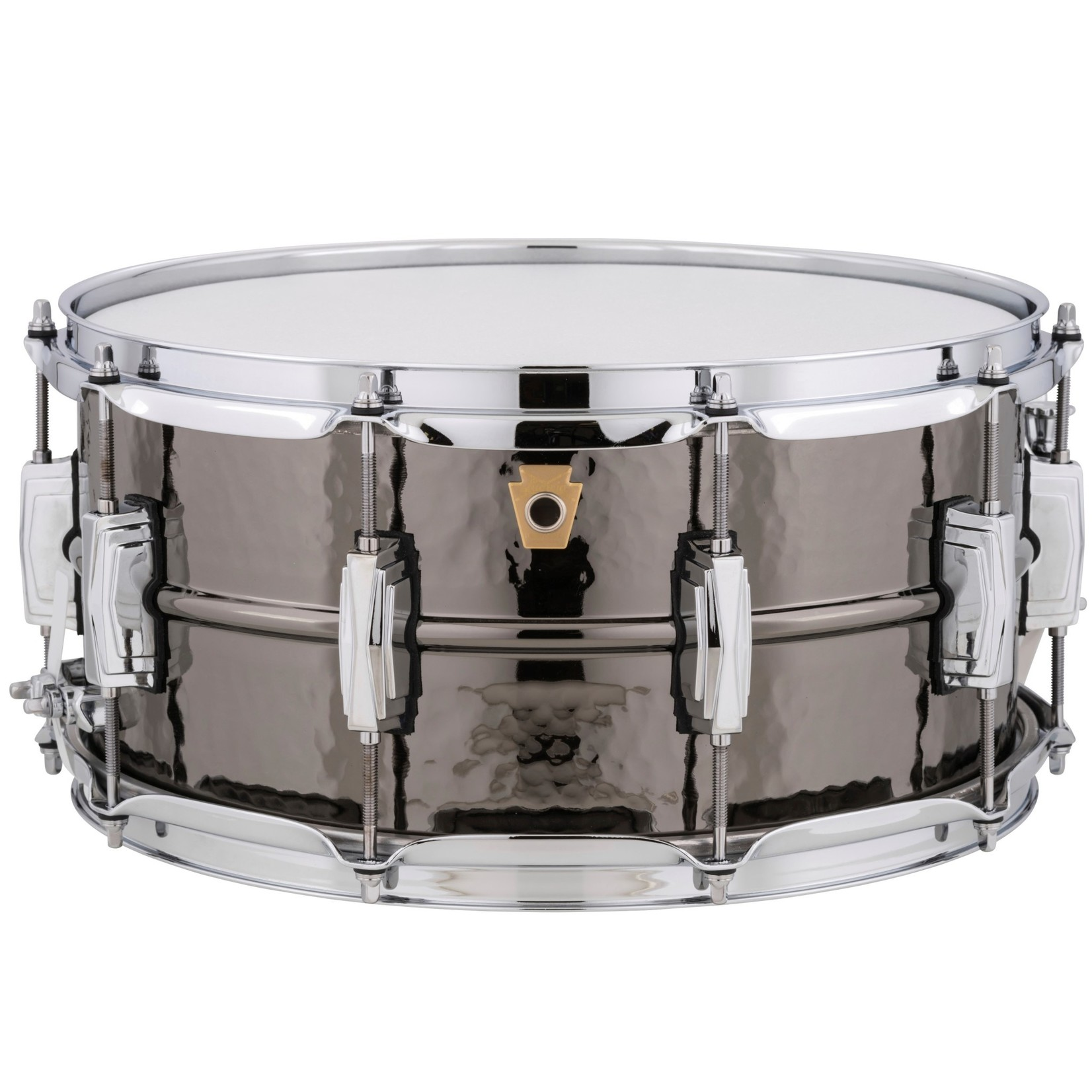 """Ludwig LUDWIG 6.5X14"""" HAMMERED BLACK BEAUTY SNARE DRUM (B-STOCK) LB417KB"""