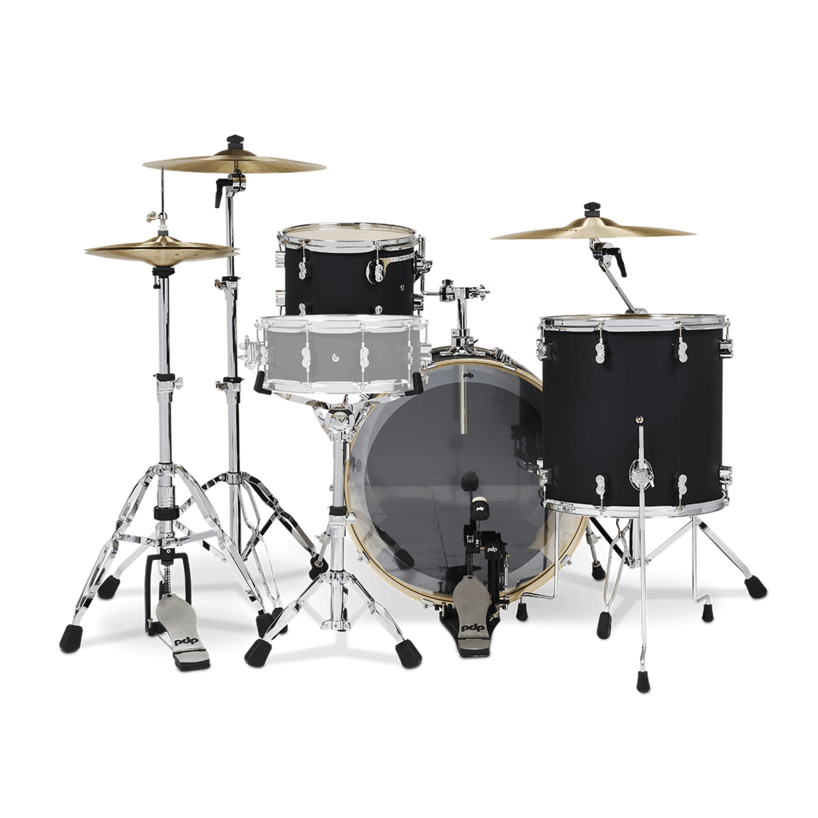 PDP PDP CONCEPT MAPLE 3-PC ROCK SHELL PACK (SATIN BLACK)