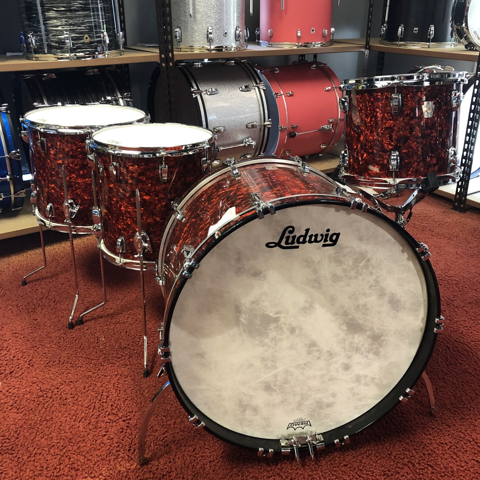 Ludwig LUDWIG CLASSIC MAPLE 4-PC SHELL PACK 12/14/16/24 (SUNSET DIAMOND PEARL)