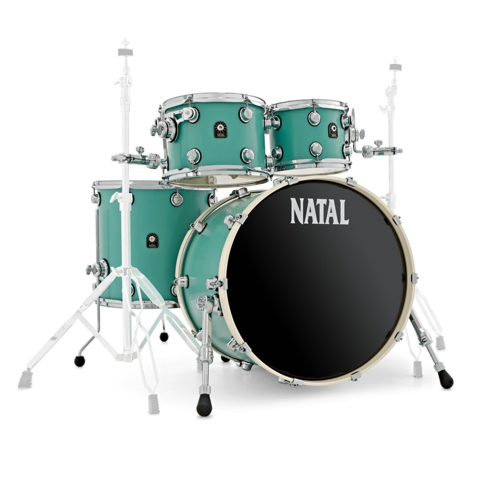Natal NATAL CAFE RACER 4-PC SHELL PACK SEAFOAM GREEN 10/12/16/22 (TULIPWOOD)