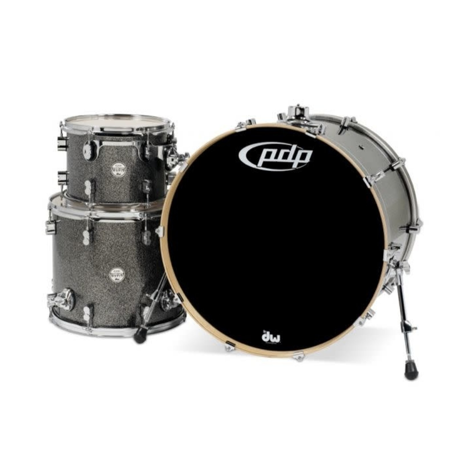 PDP PDP CONCEPT MAPLE 3-PC SHELL PACK 13/16/24 (BLACK SPARKLE)
