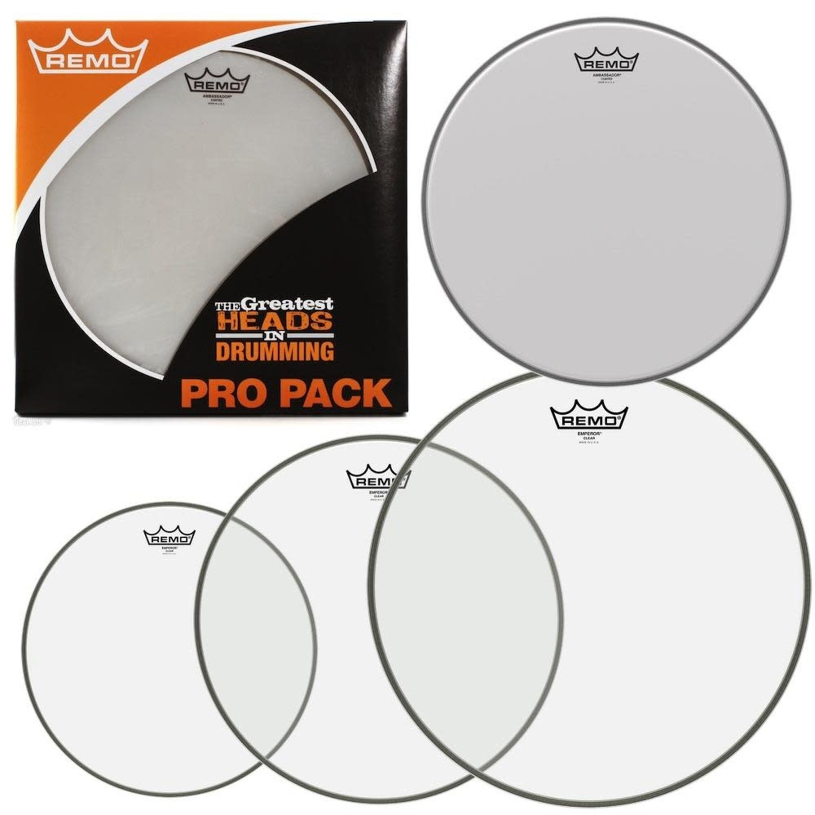 """Remo REMO EMPEROR 10""""/12""""/16""""/14""""BE PROPACK PP1860BE"""