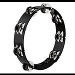 "Meinl MEINL HEADLINER 10"" TOUR TAMBOURINE  STAINLESS STEEL JINGLES TWO ROWS - BLACK HTT10BK"