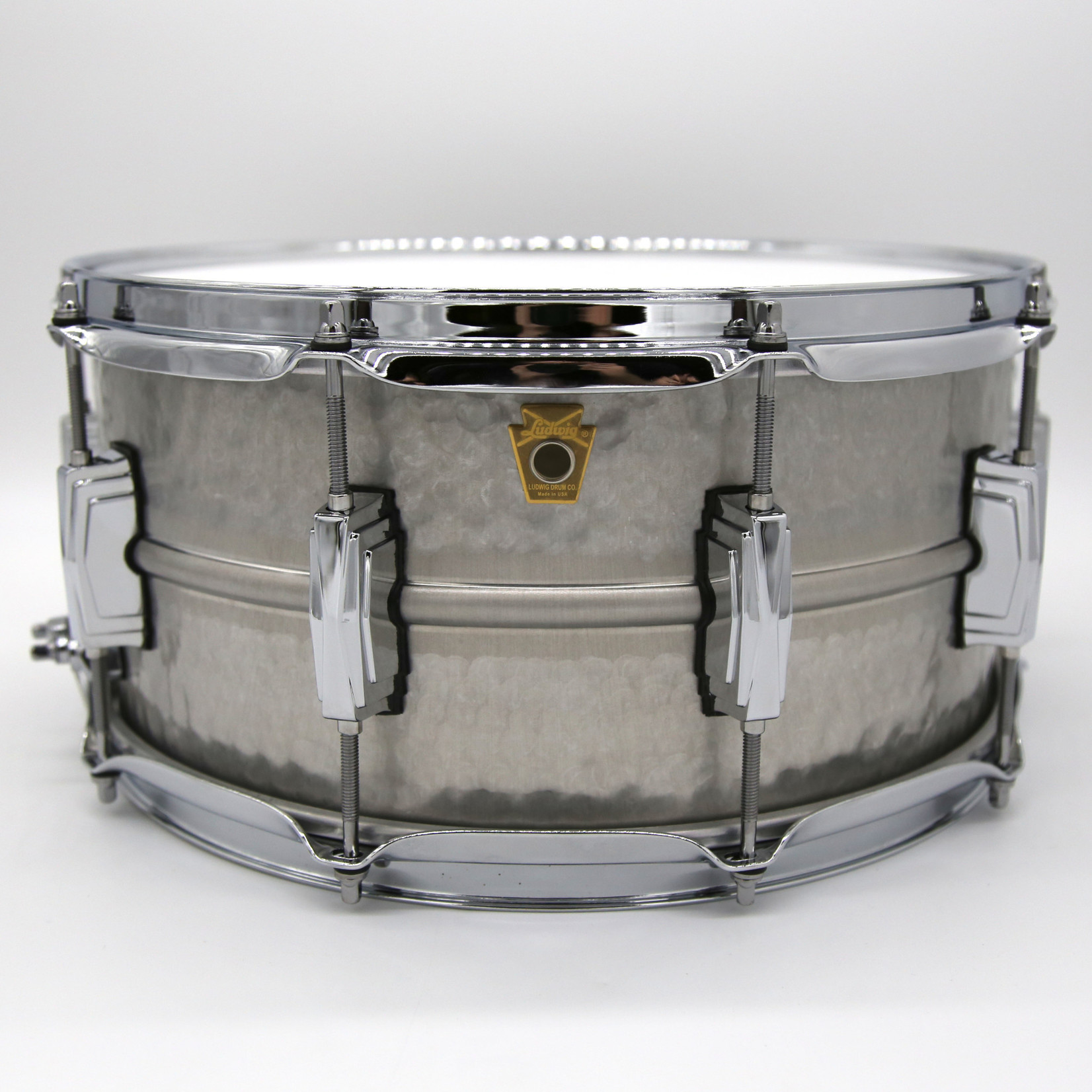 """Ludwig LUDWIG 6.5X14"""" ACROPHONIC HAMMERED SNARE DRUM LA405K"""