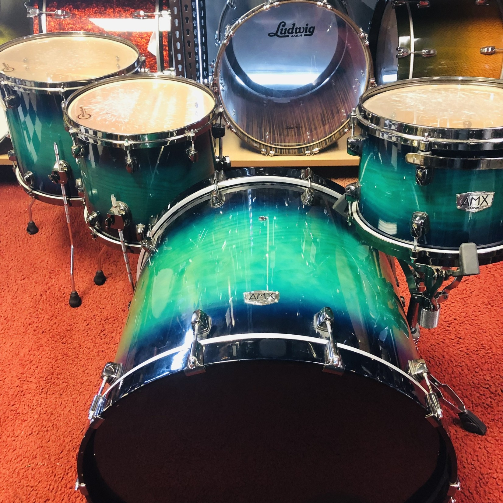 ddrum ddrum  DOMINION ASH/MAPLE 4-PC SHELL PACK 12/14/16/24