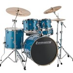 """Ludwig LUDWIG EVOLUTION 5-PC 22"""" COMPLETE (BLUE SPARKLE) LCEE22023I"""