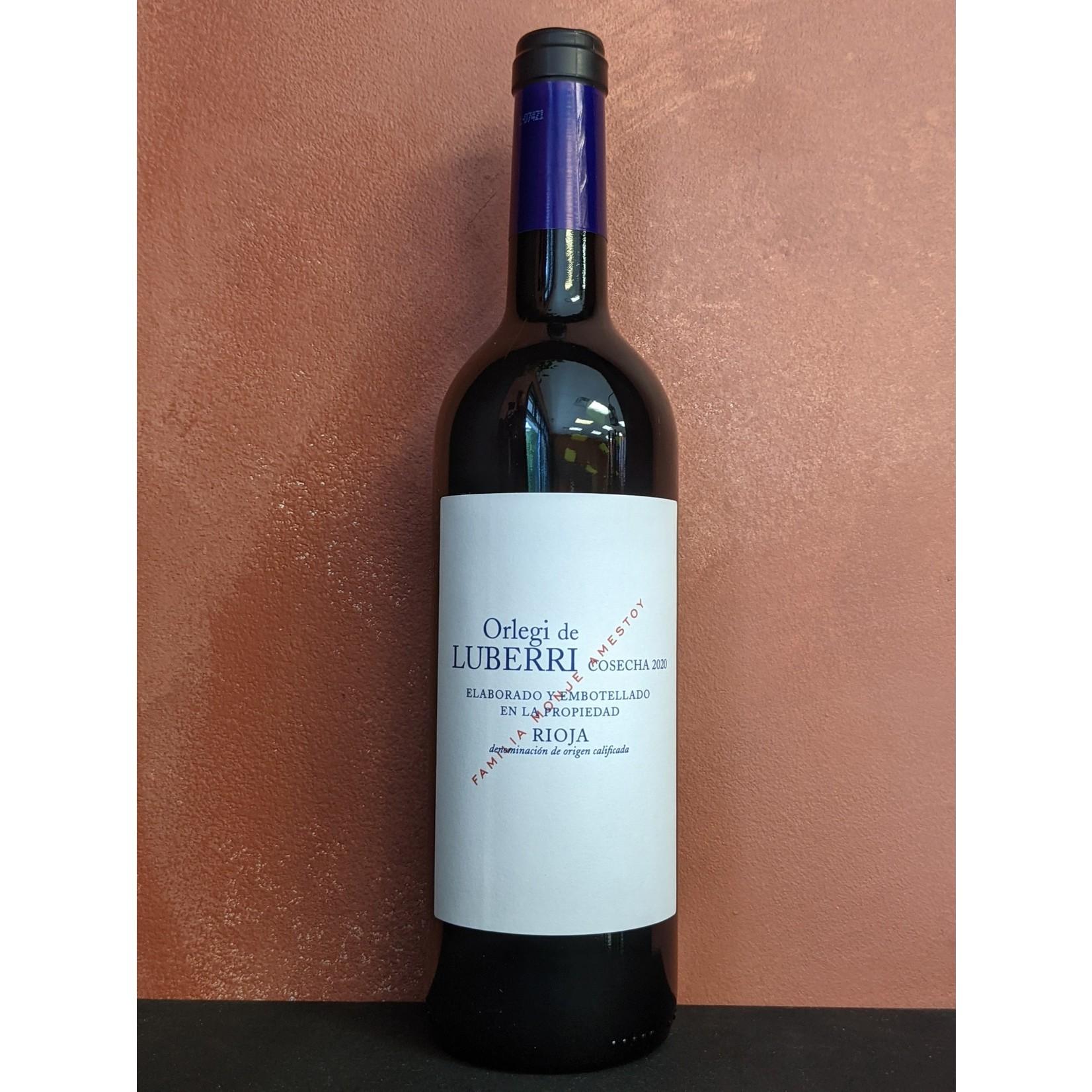 """2020 Tempranillo, Luberri """"Orlegi"""" Rioja"""