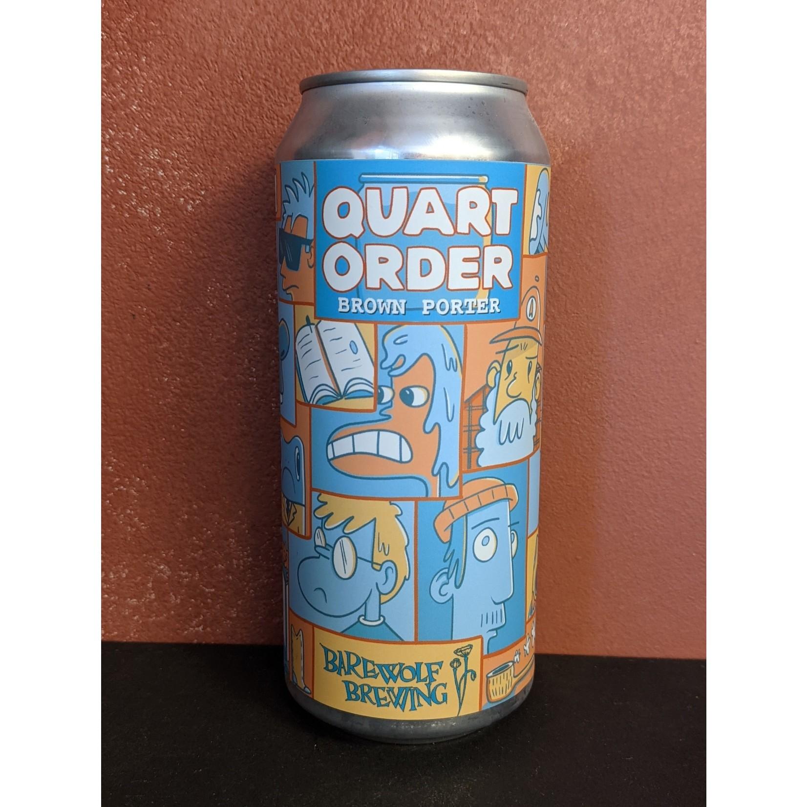 "Barewolf Brewing ""Quart Order"" Porter CAN"