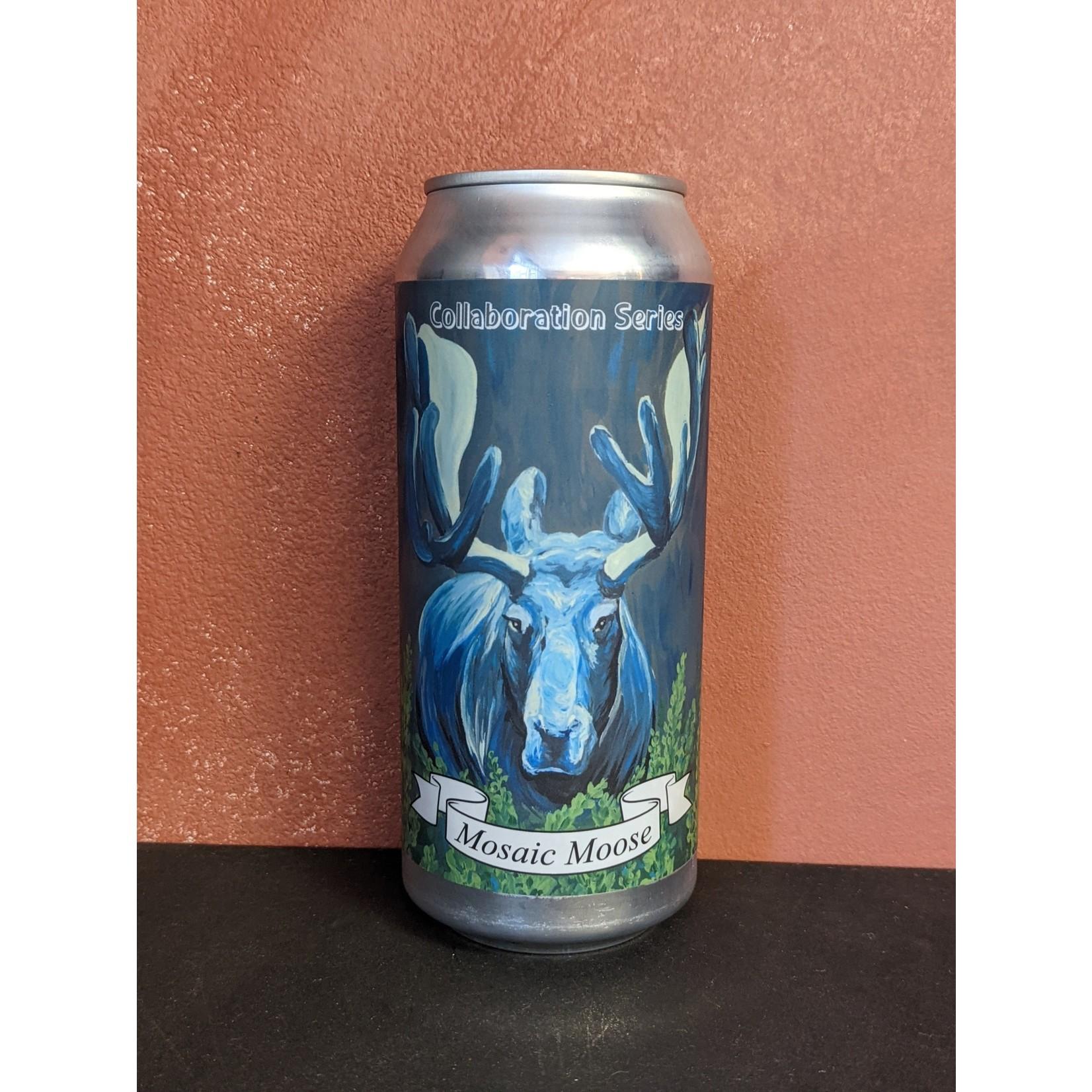 "Ferrous Falcon x Foam Brewers ""Mosaic Moose"" DIPA CAN"