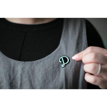 Enamel D Pin