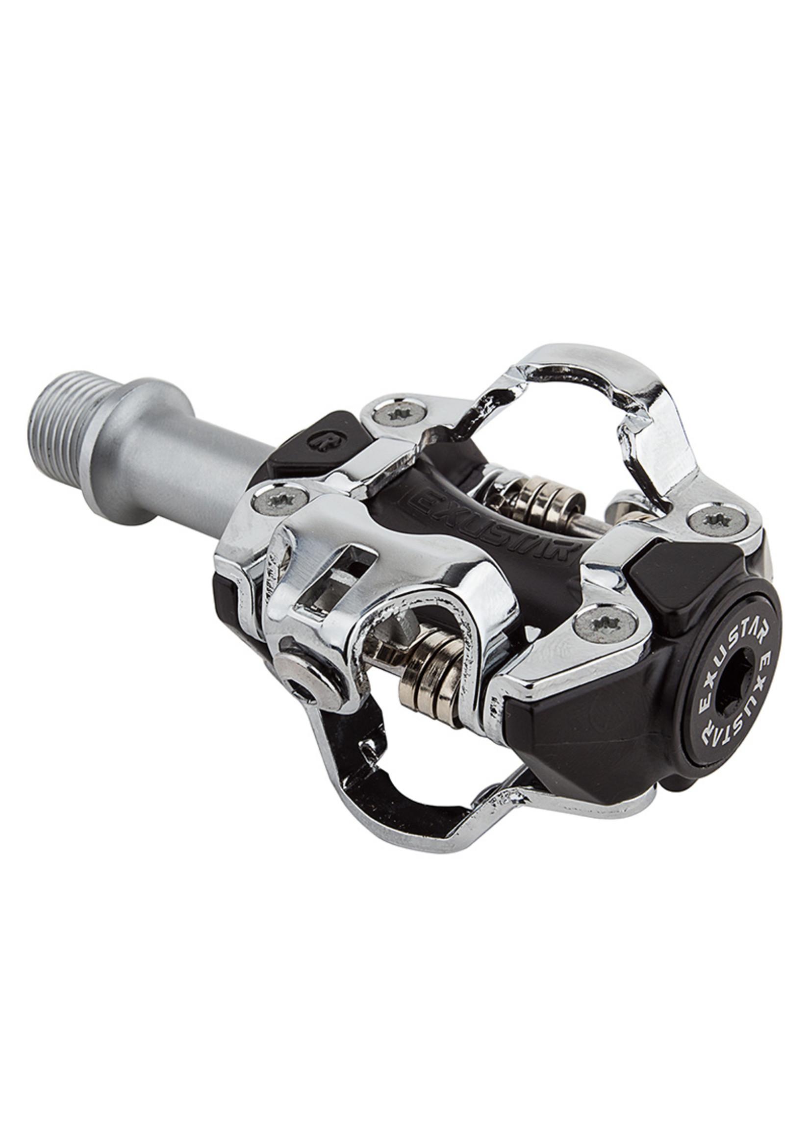 Exustar EXUSTAR Clipless MTB pedals  PM211, Black/Silver, SPD