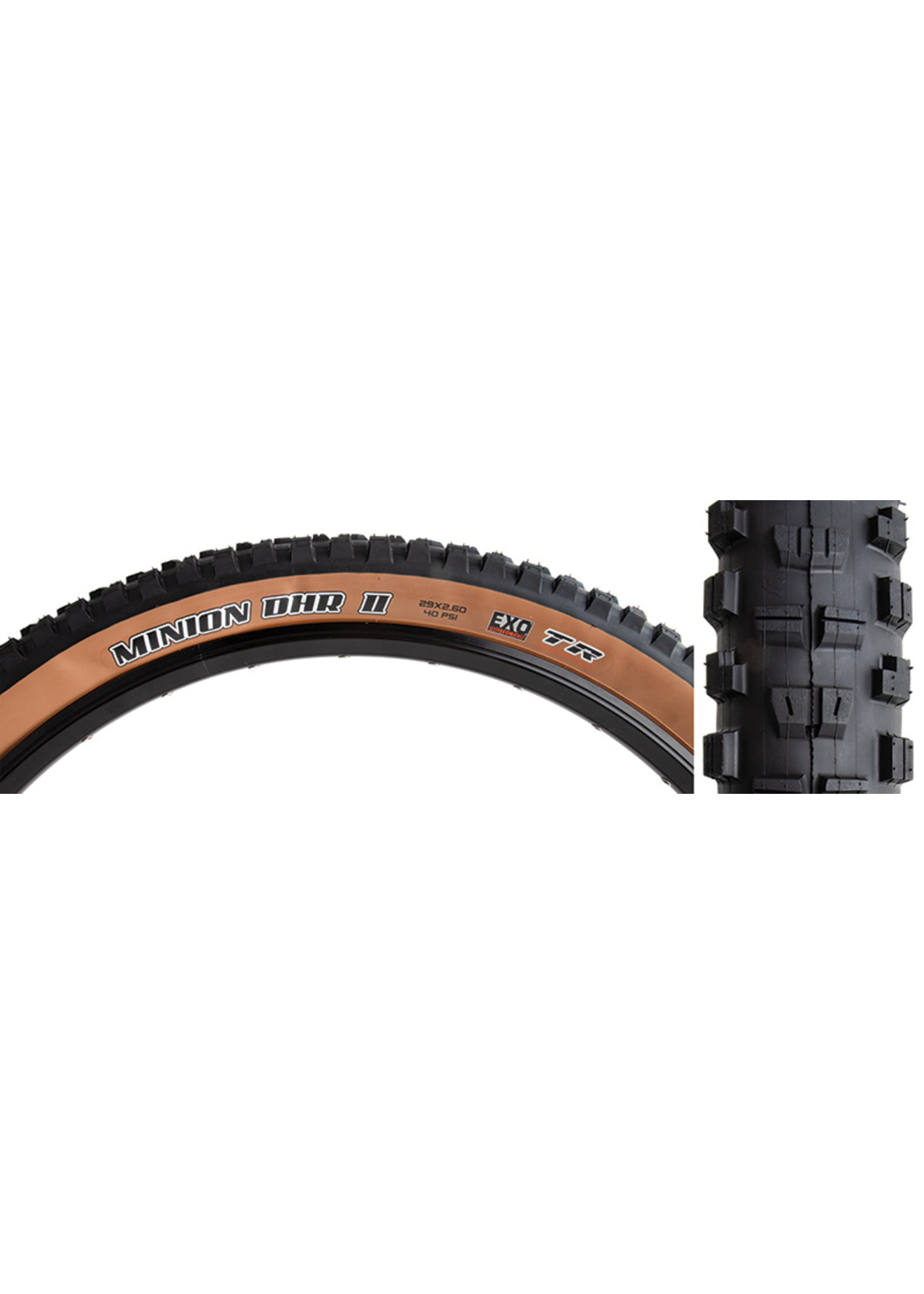 "MAXXIS Minion DHR 2 Tire, 29x2.6"" EXO/TR/WT Dk Tanwall"