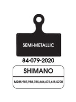 ULTRACYCLE KHS UC DISC PADS SEMI-METALIC PAIR SHIM M985/785/666/S700