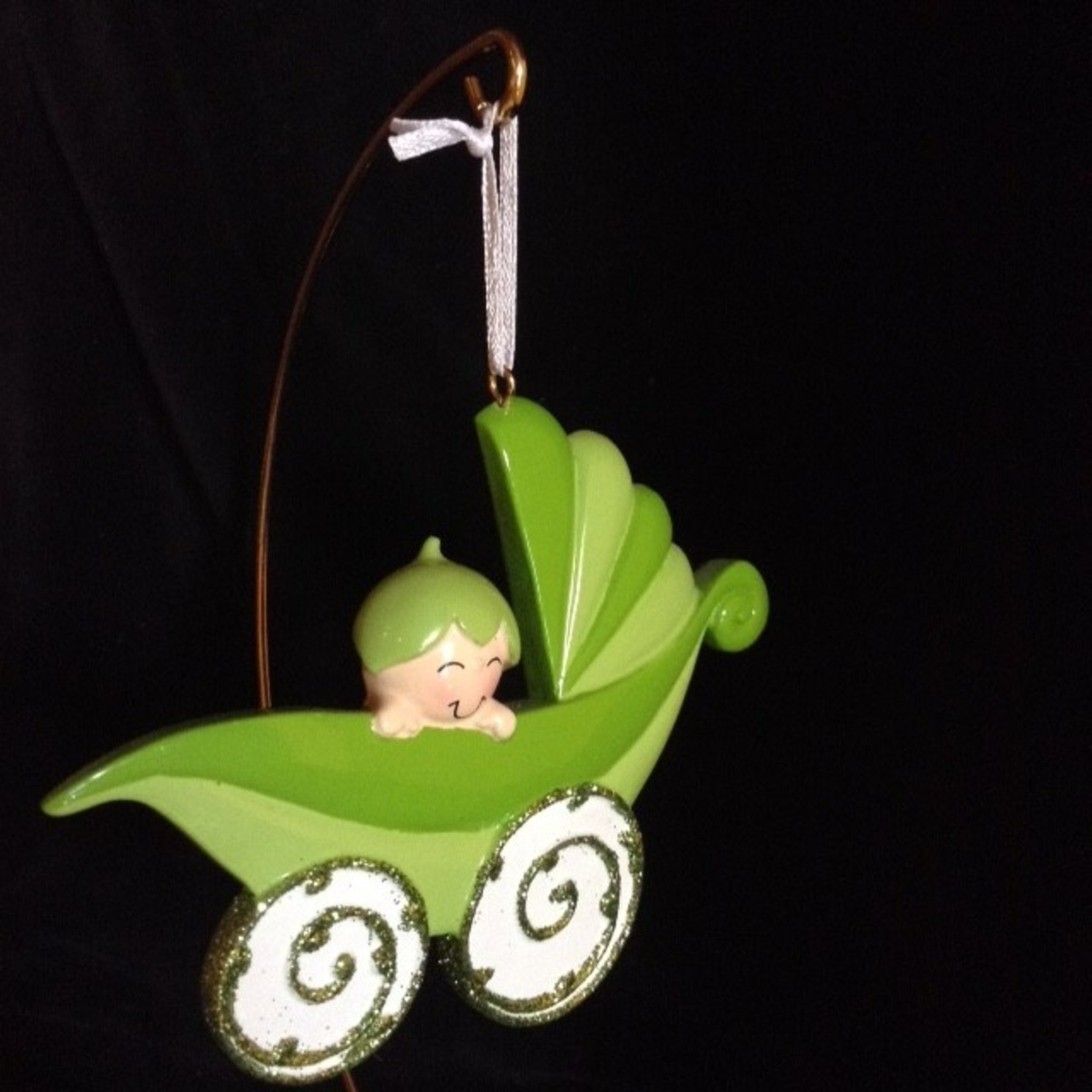 Peapod Carriage Ornament