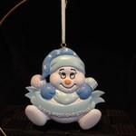 Snowbaby Orn - Blue