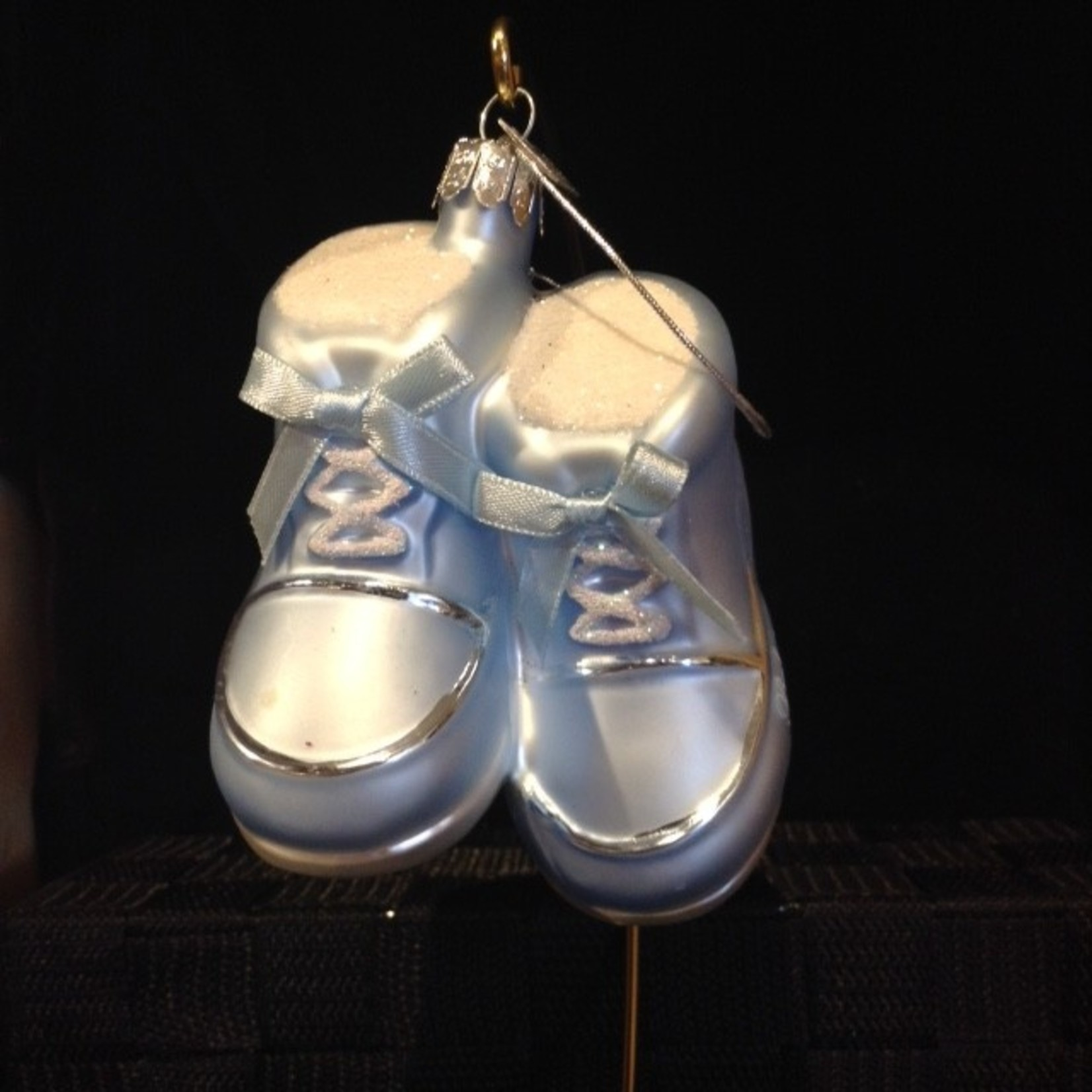 Glass Baby Shoes (Pink)