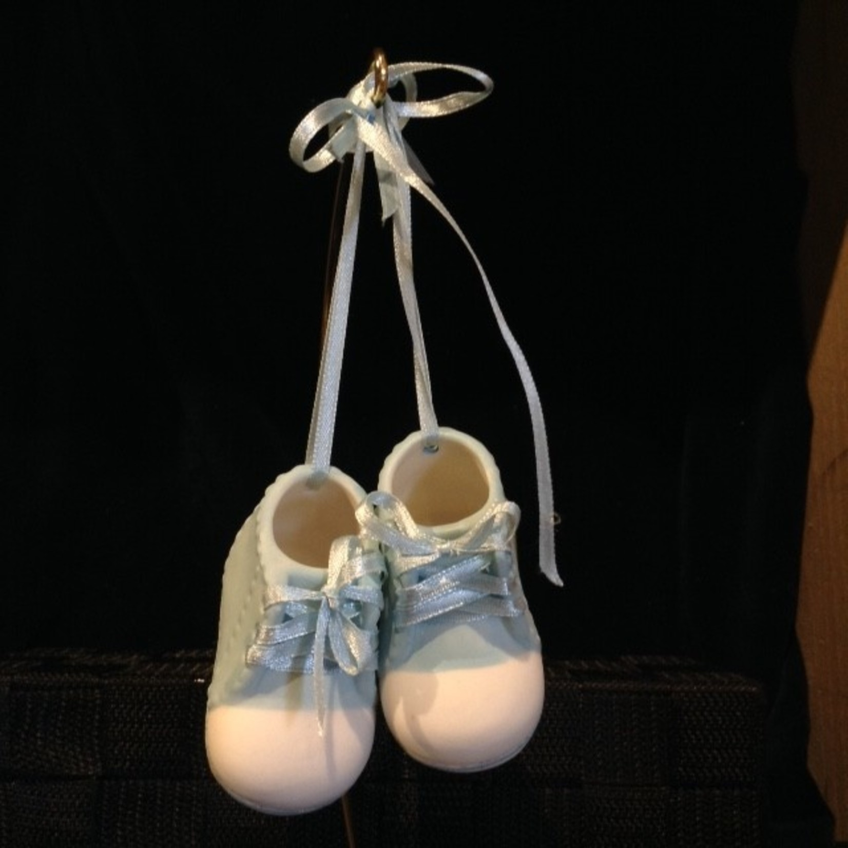 Porcelain Baby Shoes - Blue