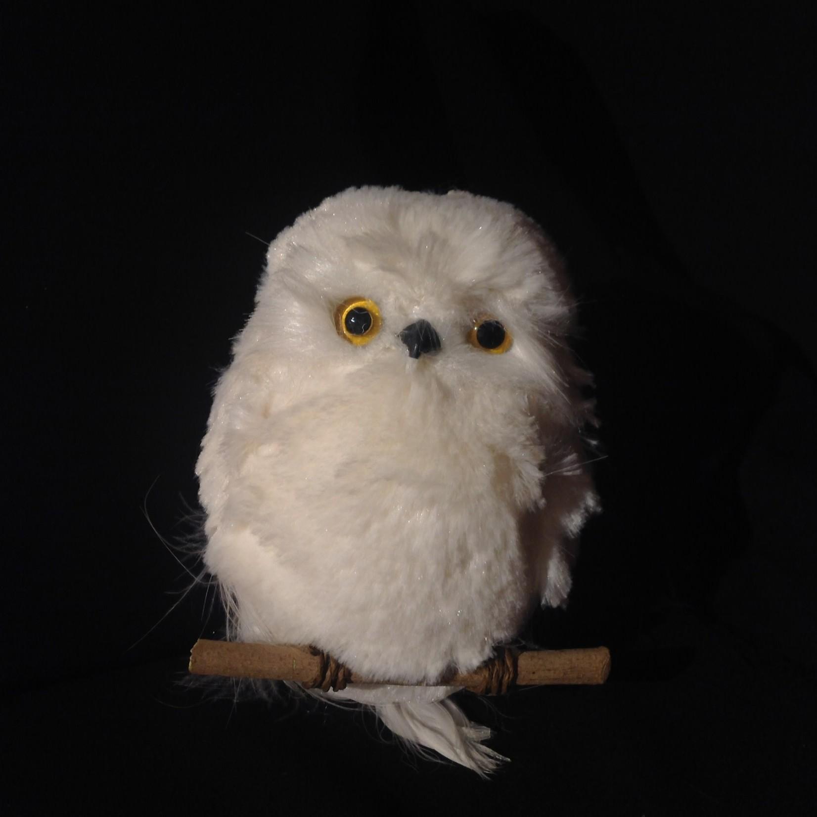 """6"""" White Owl Ornament"""