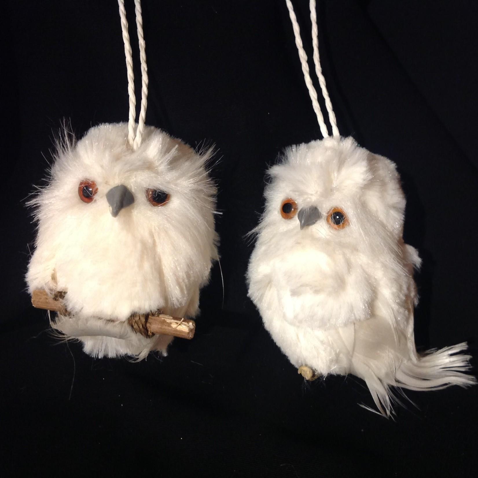 "4"" White Owl on Twig 2A"