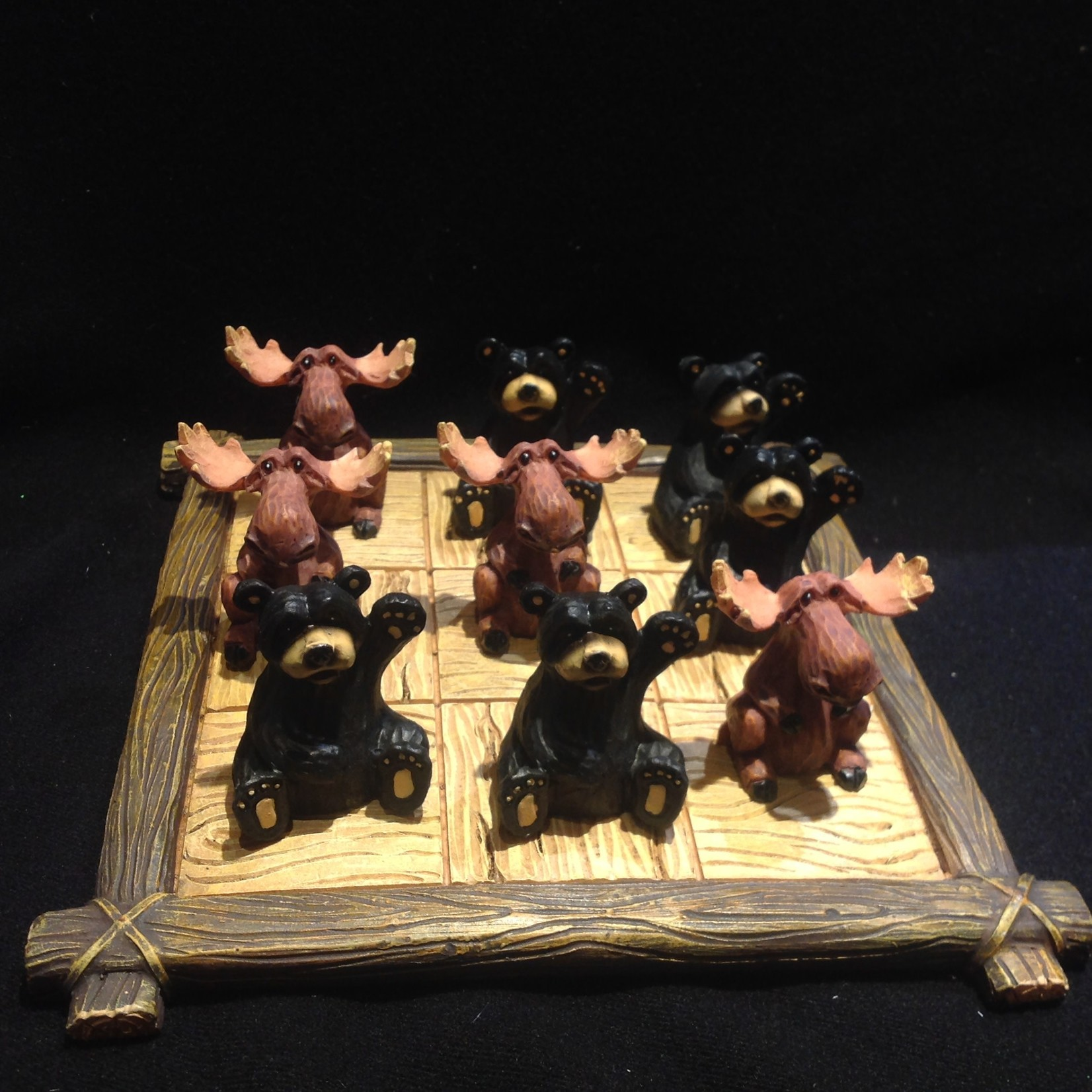 Bear & Moose Tic Tac Toe Set