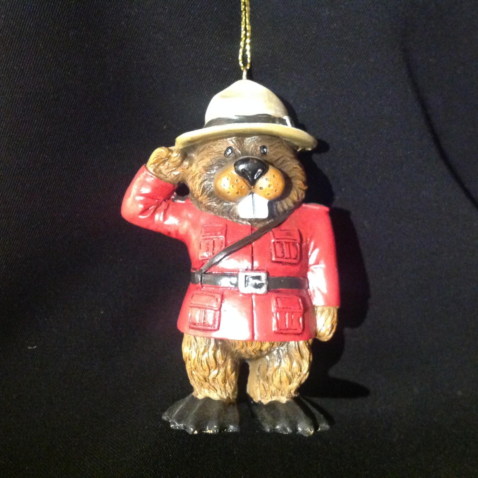 Mountie Beaver Ornament