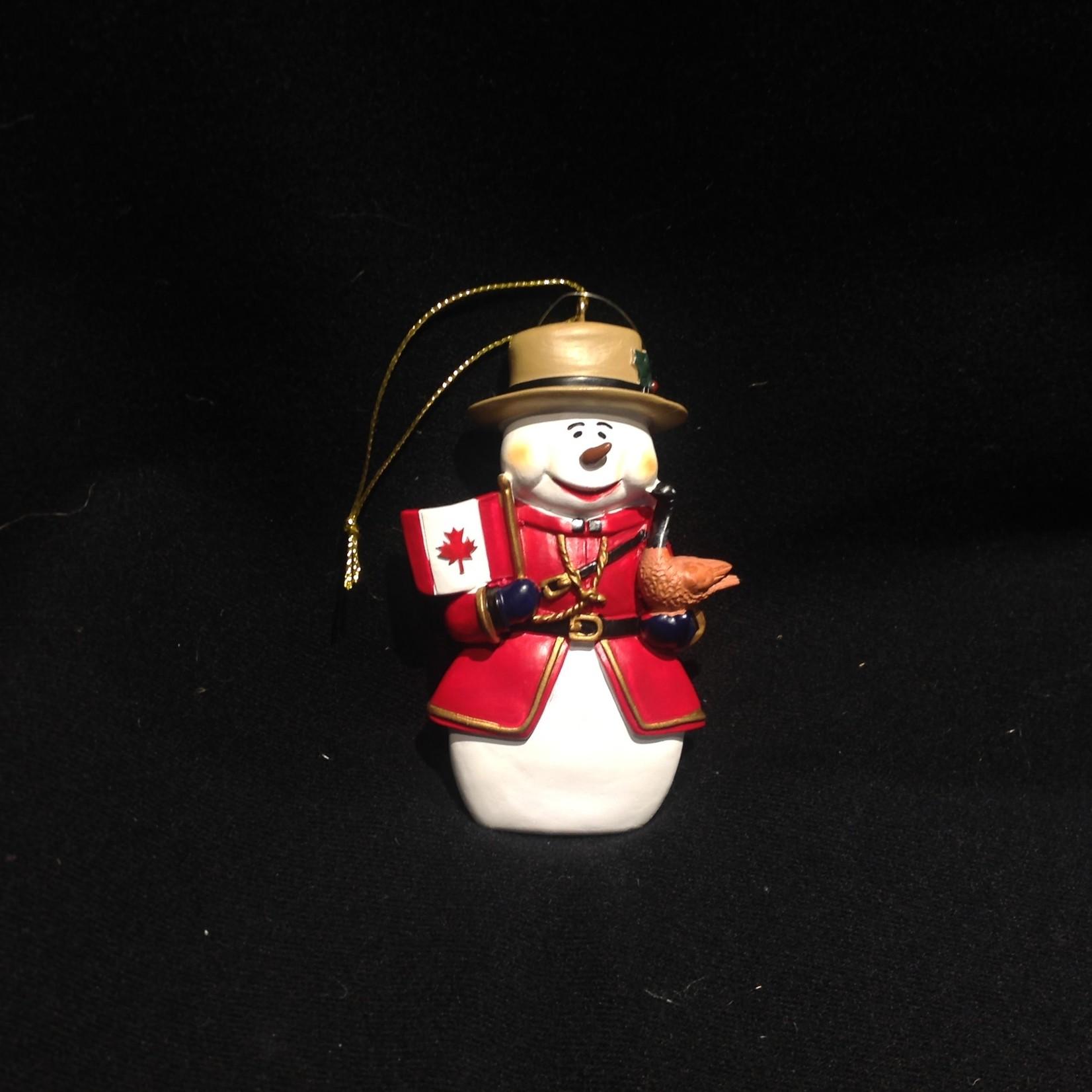 Snowman Mountie w/ Flag