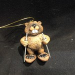 **Beaver on Snowshoes Ornament