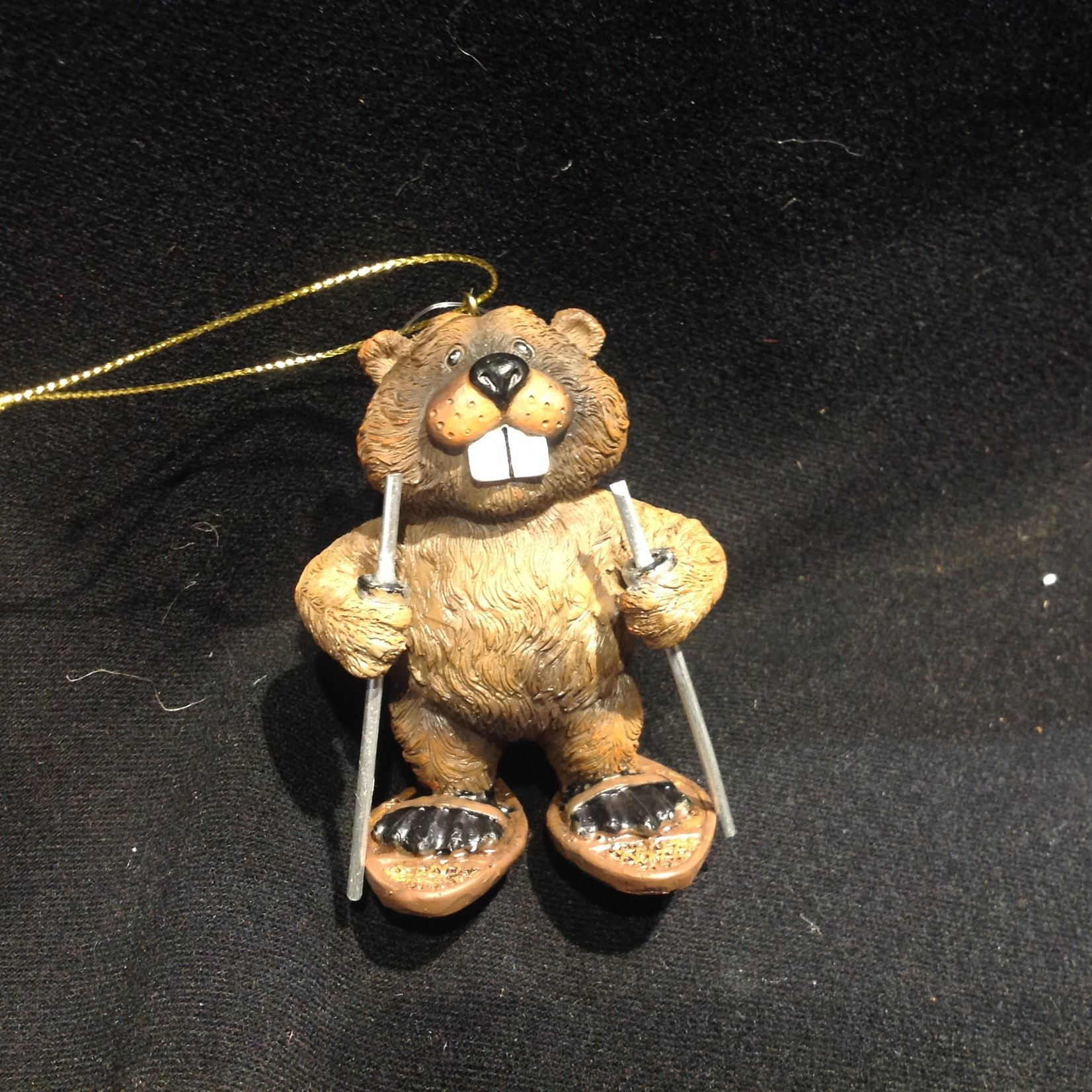 Beaver on Snowshoes Ornament