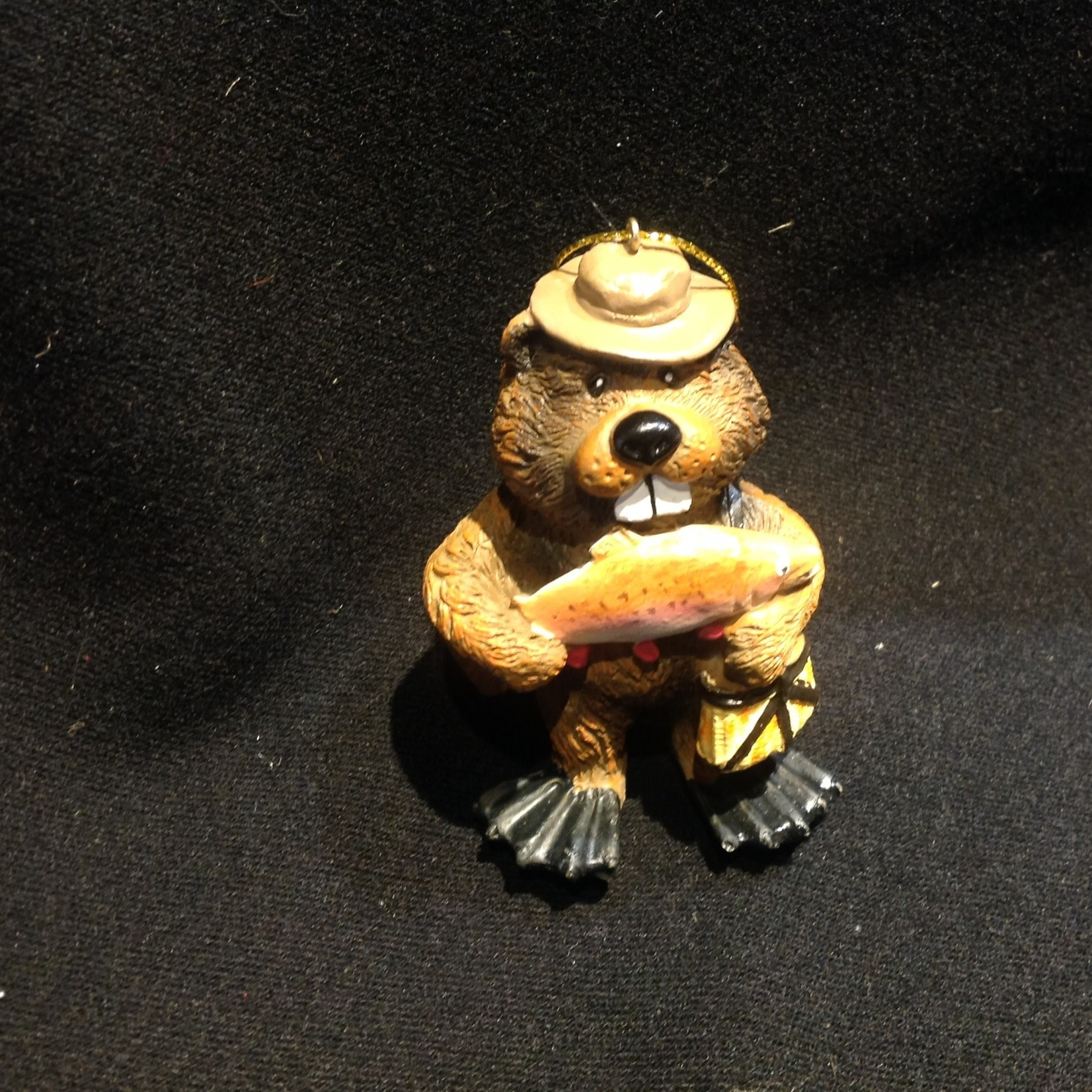Beaver w/Fish Ornament