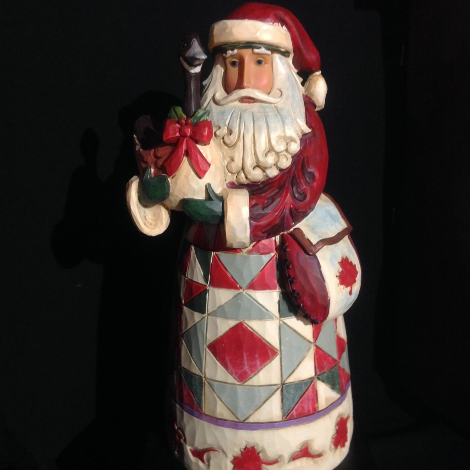 Jim Shore - Canadian Santa w/Goose