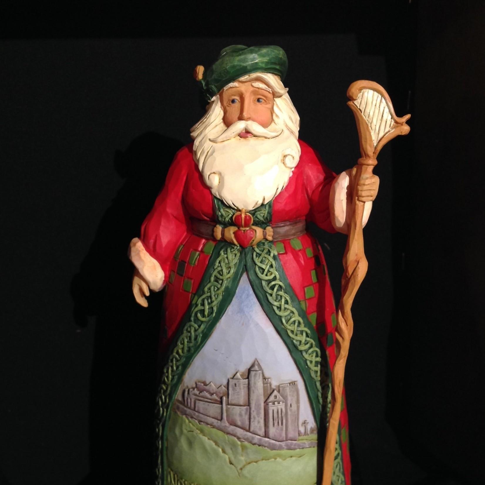 """Jim Shore - 7.25"""" Irish Santa"""