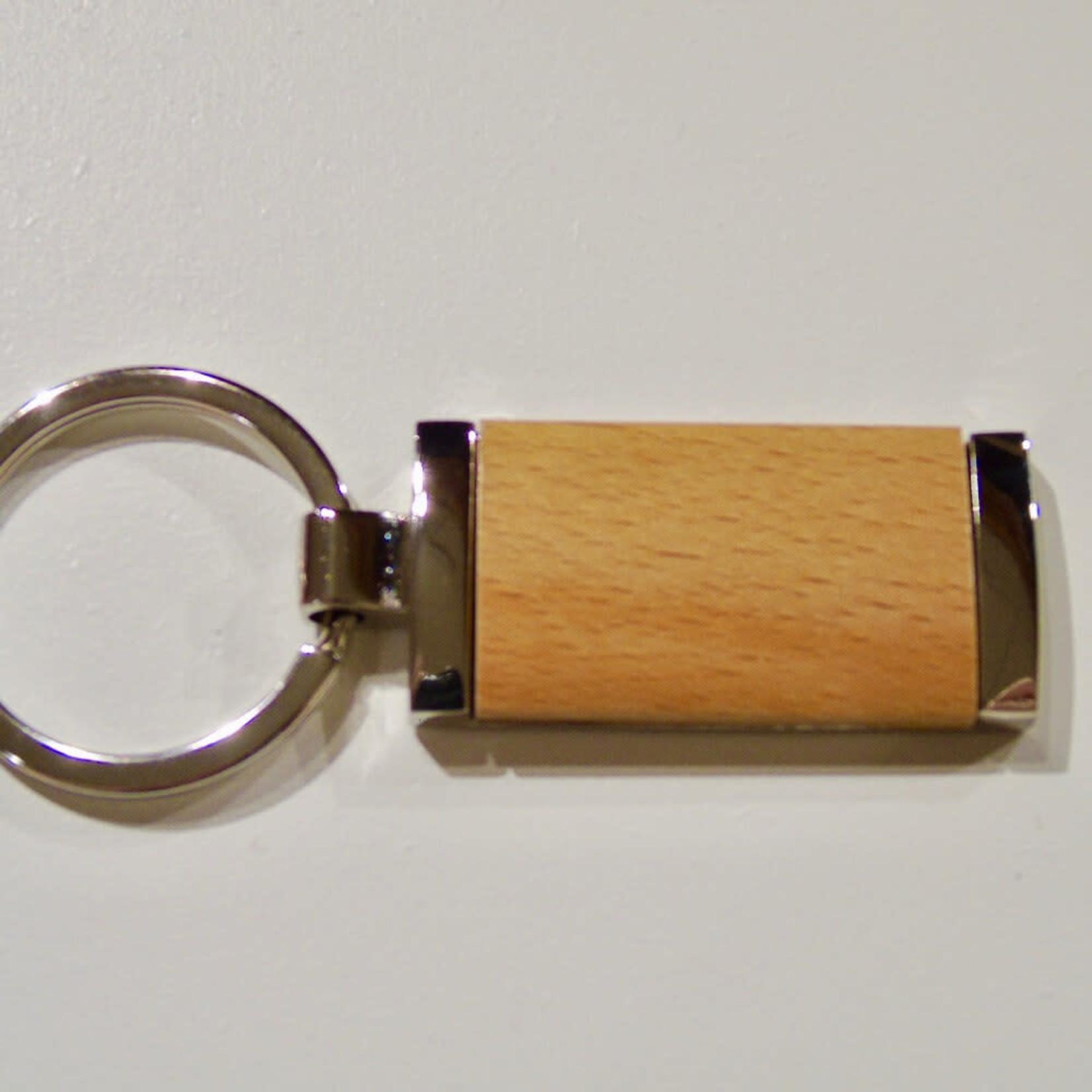 Wood Keychain - Rectangular
